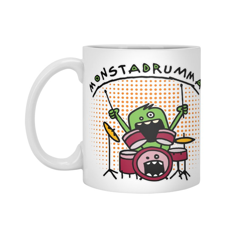 Monster Drummer Accessories Mug by Illustrated Madness