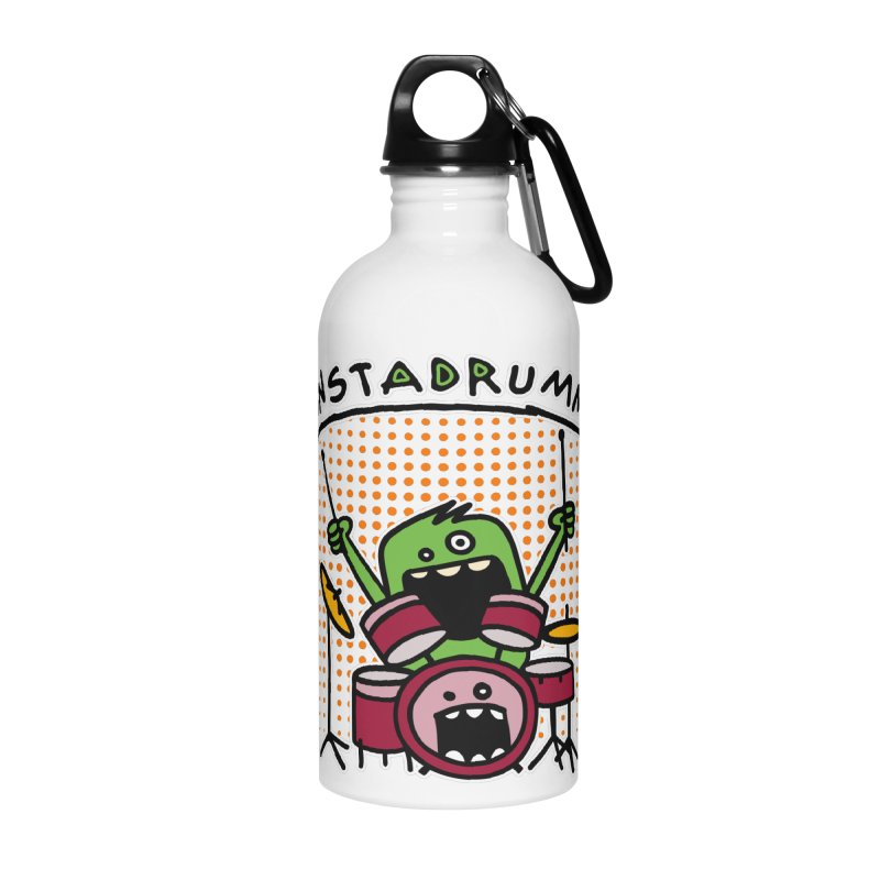 Monster Drummer Accessories Water Bottle by Illustrated Madness