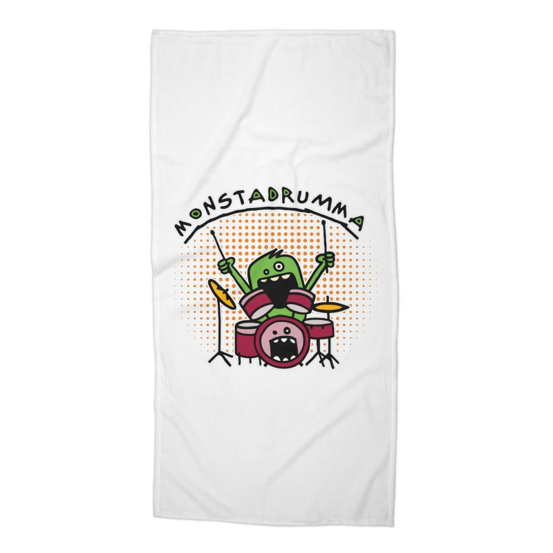 Monster Drummer Accessories Beach Towel by Illustrated Madness