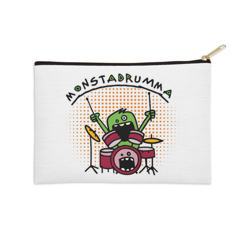 Monster Drummer Accessories Zip Pouch by Illustrated Madness
