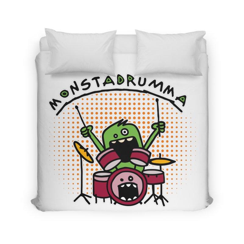 Monster Drummer Home Duvet by Illustrated Madness