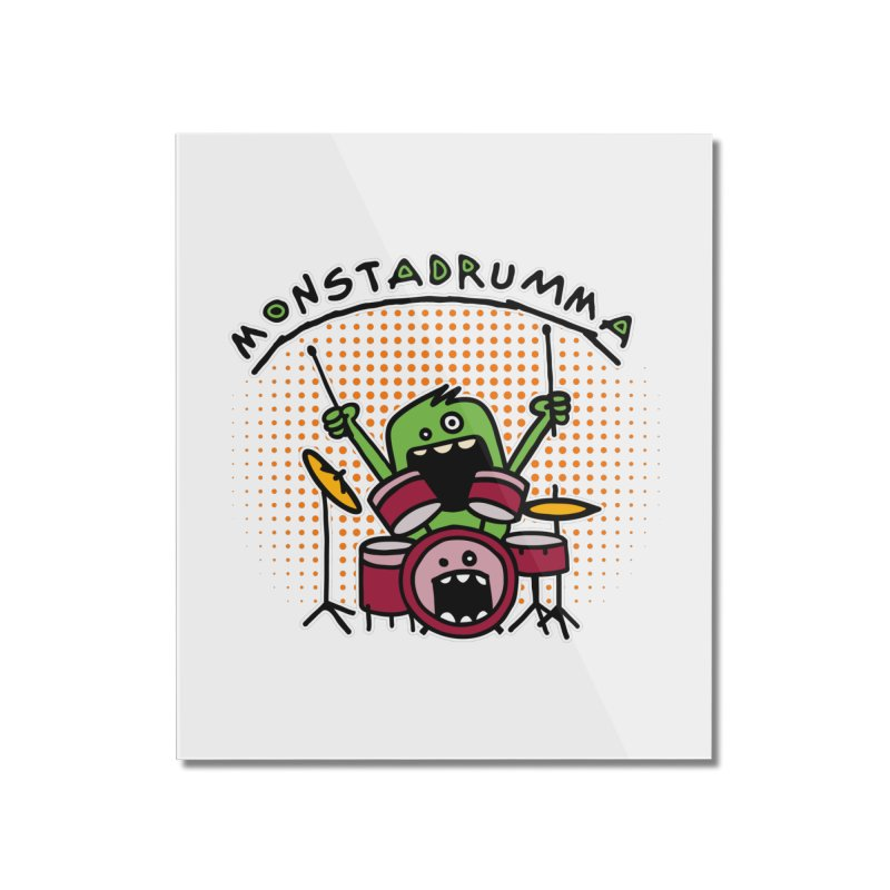 Monster Drummer Home Mounted Acrylic Print by Illustrated Madness