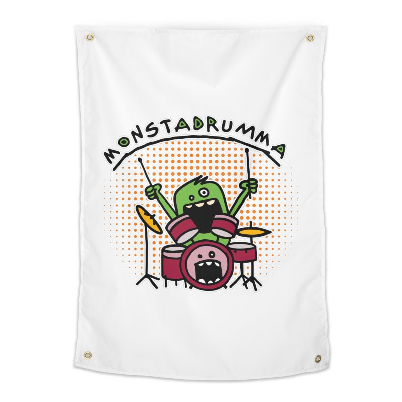 Monster Drummer Home Tapestry by Illustrated Madness