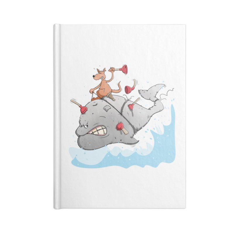 Moby Dick the white Whale and Ahab the one-leg Kangaroo Accessories Notebook by Illustrated Madness