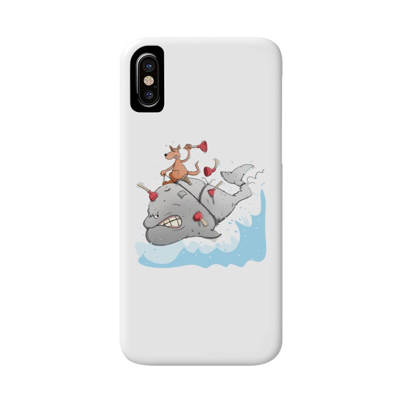 Moby Dick the white Whale and Ahab the one-leg Kangaroo Accessories Phone Case by Illustrated Madness
