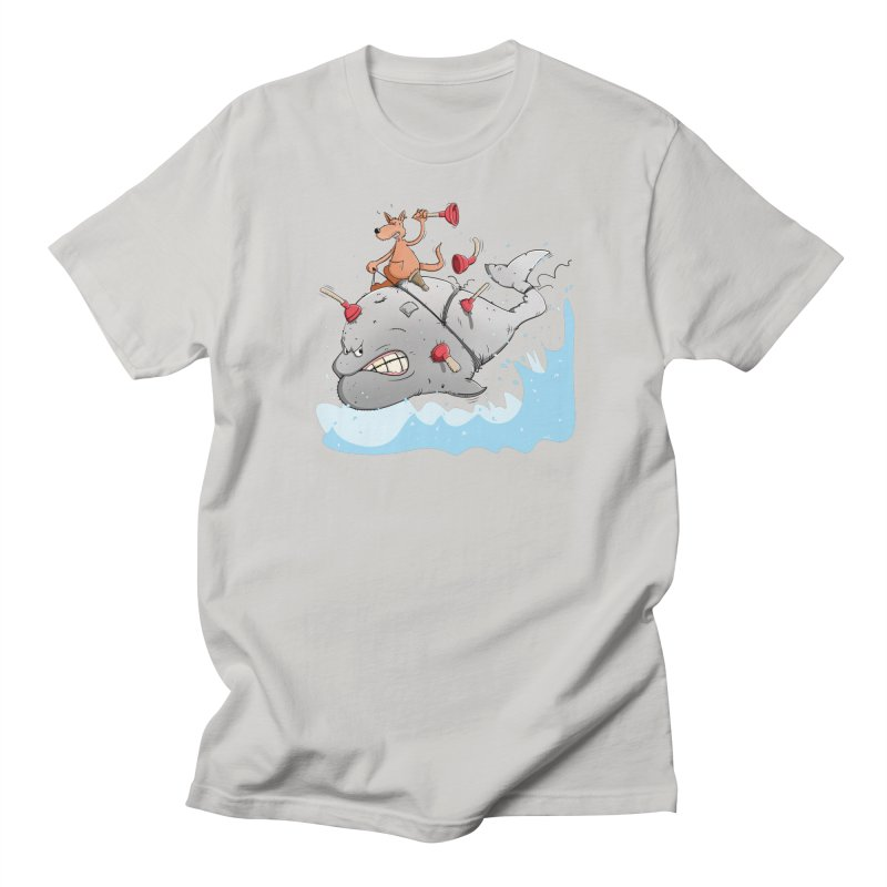 Moby Dick the white Whale and Ahab the one-leg Kangaroo Men's T-Shirt by Illustrated Madness
