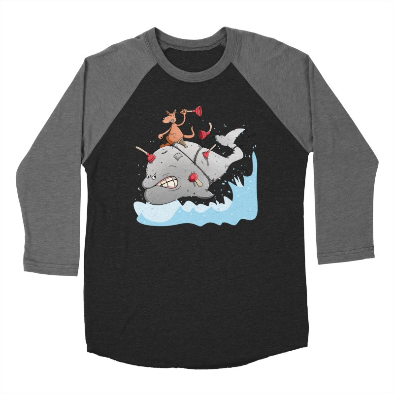 Moby Dick the white Whale and Ahab the one-leg Kangaroo Men's Longsleeve T-Shirt by Illustrated Madness