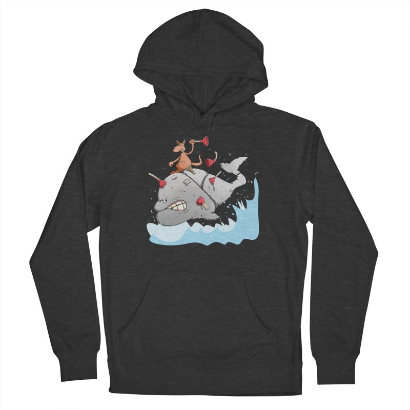 Moby Dick the white Whale and Ahab the one-leg Kangaroo Men's Pullover Hoody by Illustrated Madness
