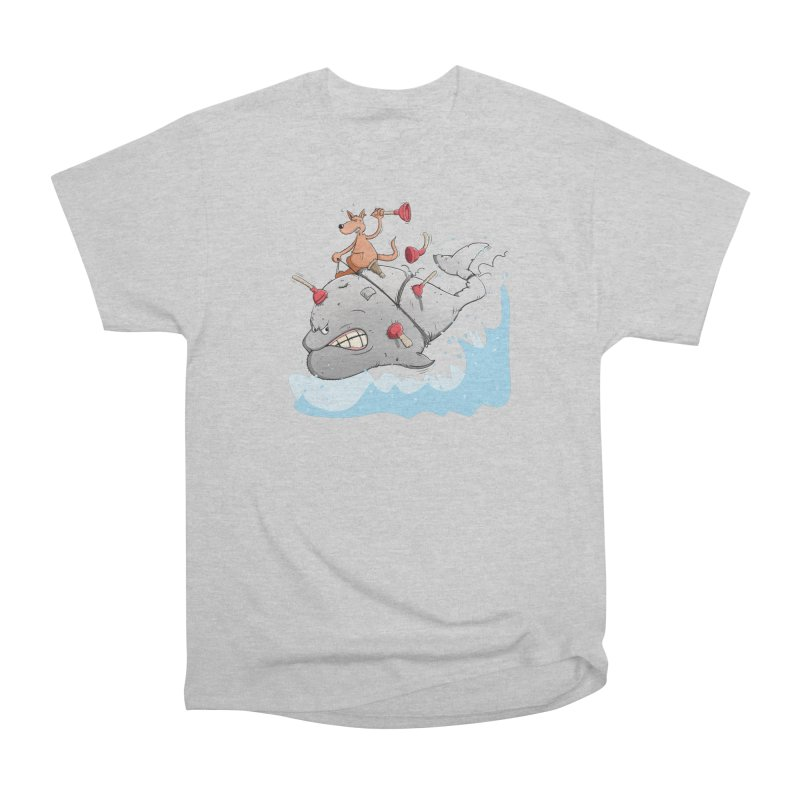 Moby Dick the white Whale and Ahab the one-leg Kangaroo Men's Heavyweight T-Shirt by Illustrated Madness