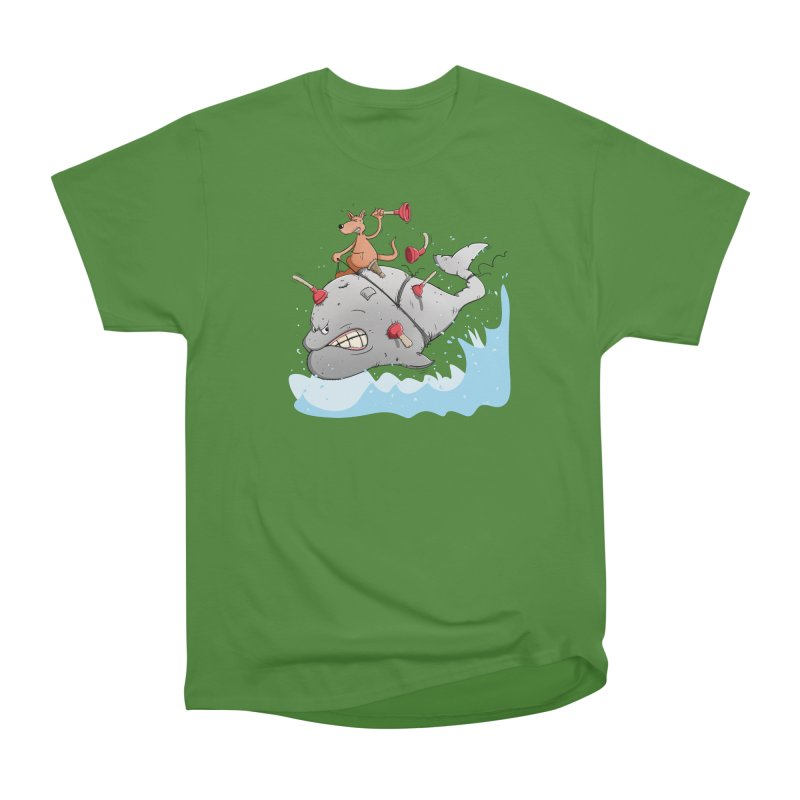 Moby Dick the white Whale and Ahab the one-leg Kangaroo Men's Classic T-Shirt by Illustrated Madness