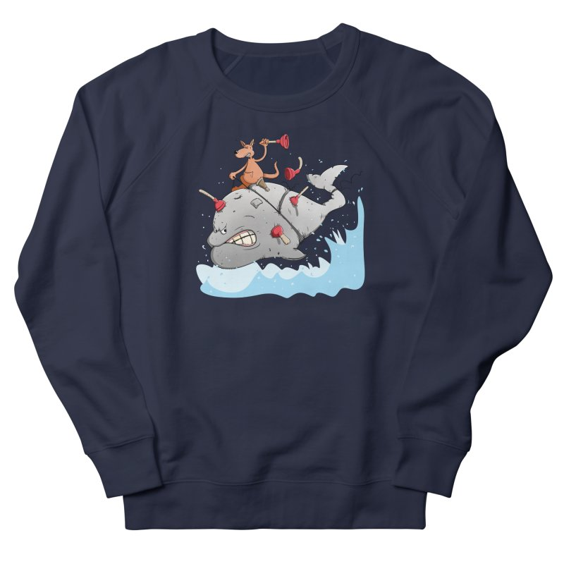 Moby Dick the white Whale and Ahab the one-leg Kangaroo Men's Sweatshirt by Illustrated Madness