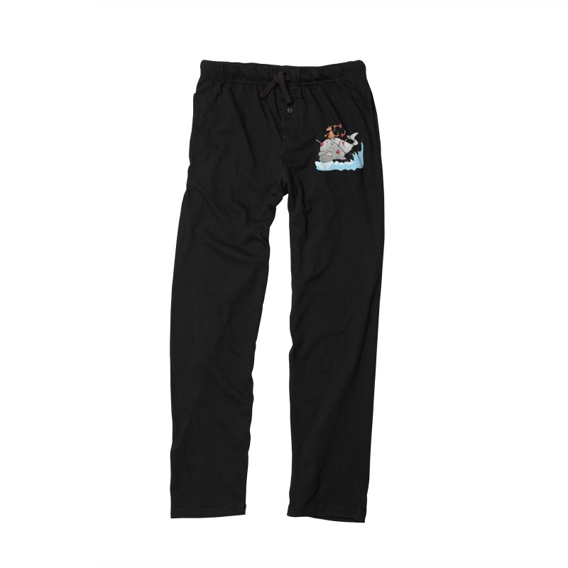 Moby Dick the white Whale and Ahab the one-leg Kangaroo Men's Lounge Pants by Illustrated Madness