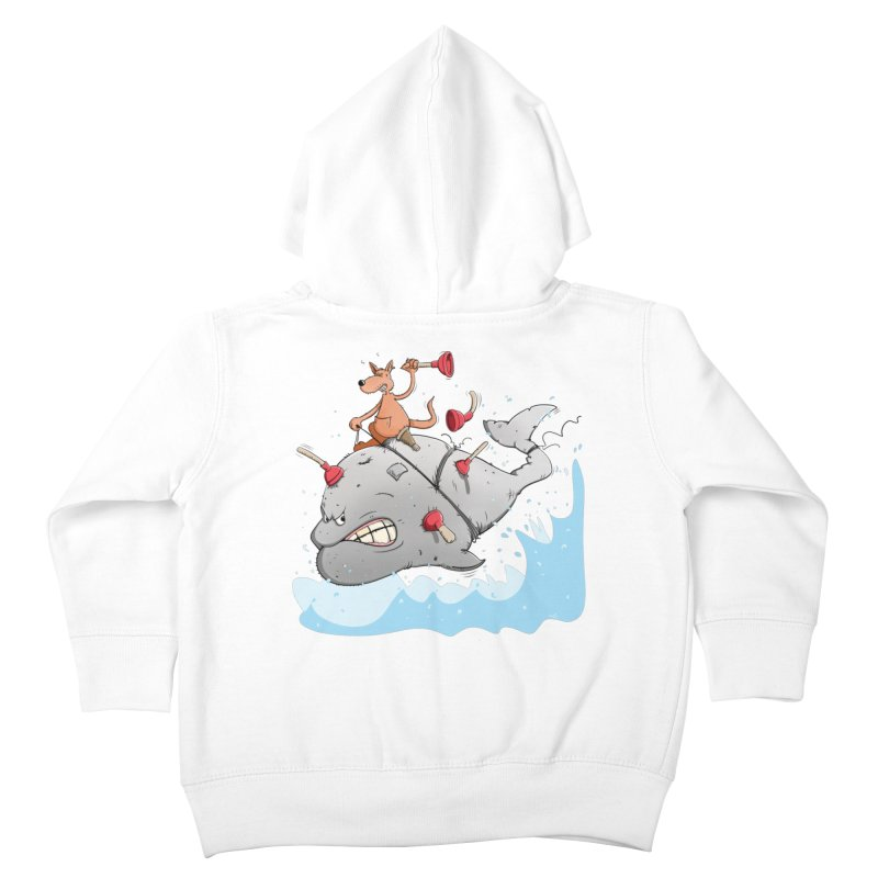 Moby Dick the white Whale and Ahab the one-leg Kangaroo Kids Toddler Zip-Up Hoody by Illustrated Madness
