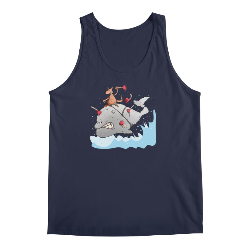 Moby Dick the white Whale and Ahab the one-leg Kangaroo Men's Regular Tank by Illustrated Madness