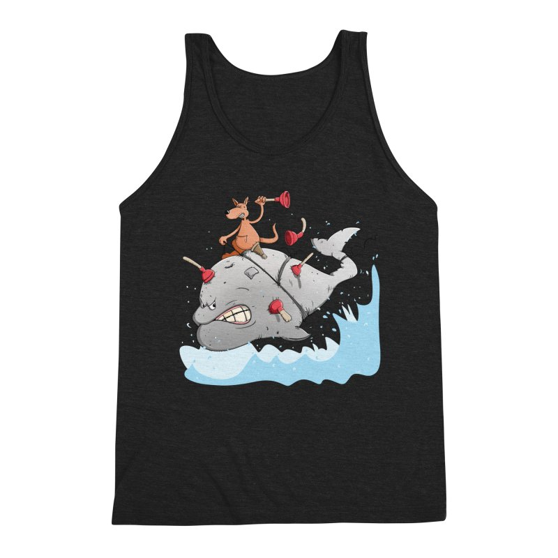 Moby Dick the white Whale and Ahab the one-leg Kangaroo Men's Tank by Illustrated Madness