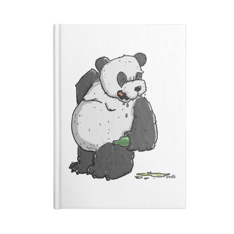 The Panda-Bear drinks Panda-Beer Accessories Notebook by Illustrated Madness