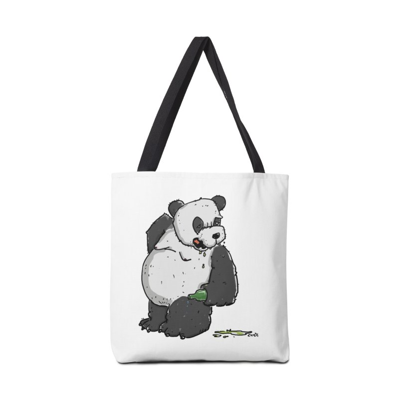 The Panda-Bear drinks Panda-Beer Accessories Bag by Illustrated Madness