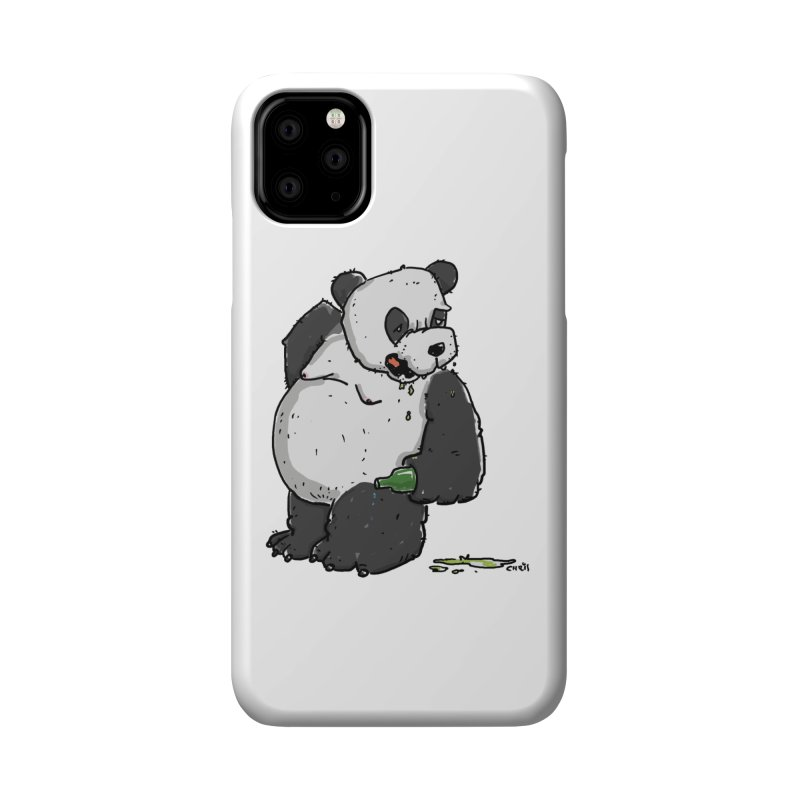 The Panda-Bear drinks Panda-Beer Accessories Phone Case by Illustrated Madness