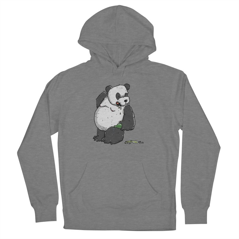 The Panda-Bear drinks Panda-Beer Women's Pullover Hoody by Illustrated Madness