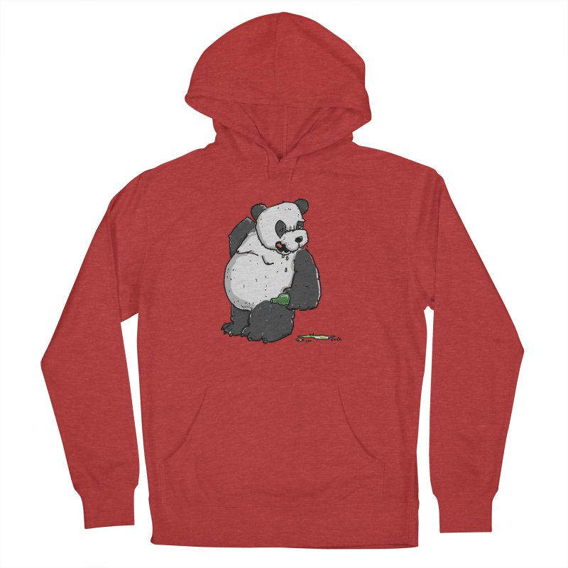 The Panda-Bear drinks Panda-Beer Women's French Terry Pullover Hoody by Illustrated Madness