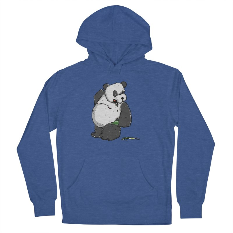 The Panda-Bear drinks Panda-Beer Men's French Terry Pullover Hoody by Illustrated Madness