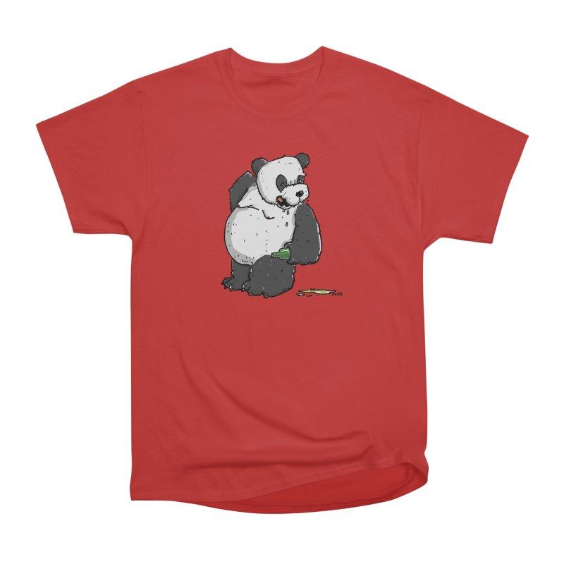 The Panda-Bear drinks Panda-Beer Women's Heavyweight Unisex T-Shirt by Illustrated Madness