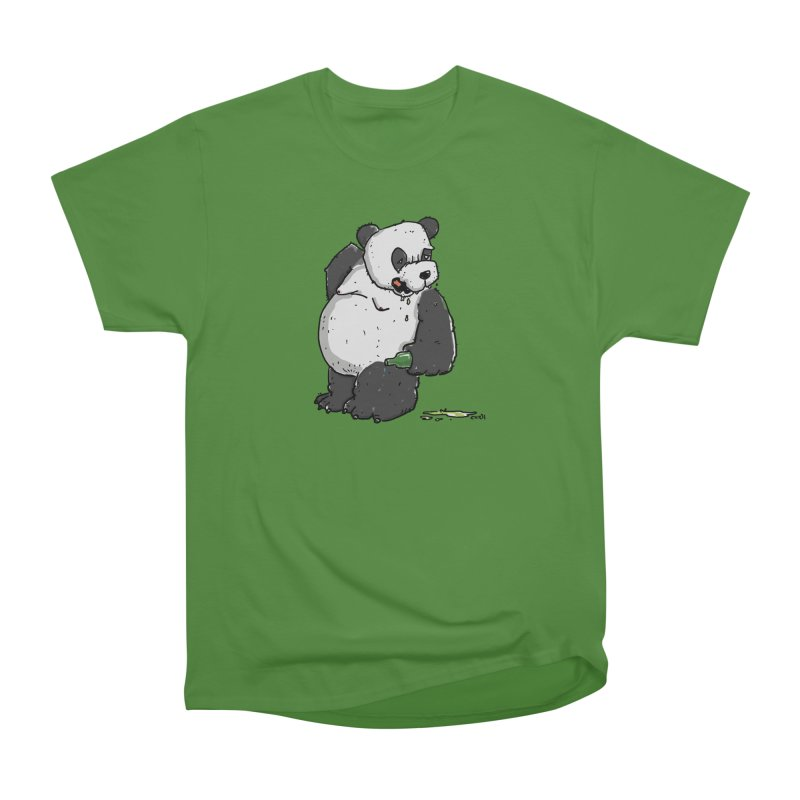 The Panda-Bear drinks Panda-Beer Men's Classic T-Shirt by Illustrated Madness