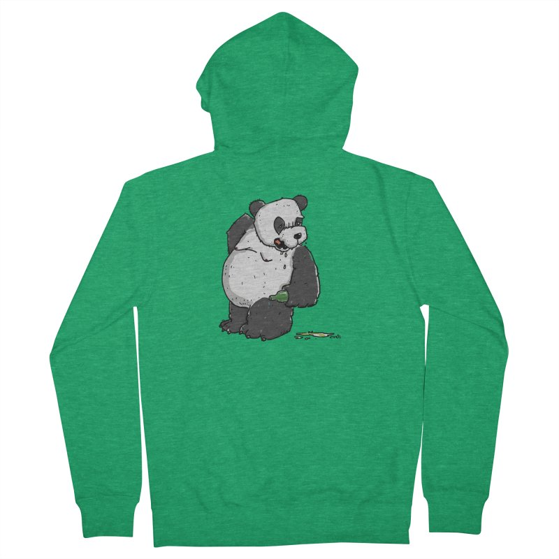 The Panda-Bear drinks Panda-Beer Women's Zip-Up Hoody by Illustrated Madness