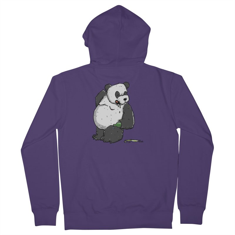 The Panda-Bear drinks Panda-Beer Women's Zip-Up Hoody by Illustrated Madness