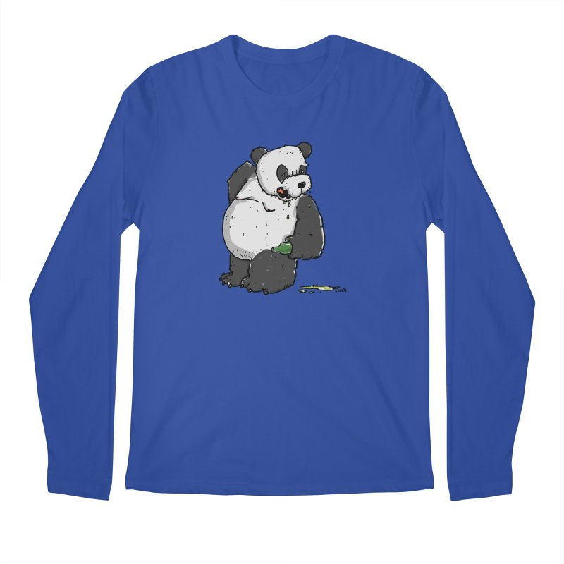 The Panda-Bear drinks Panda-Beer Men's Regular Longsleeve T-Shirt by Illustrated Madness
