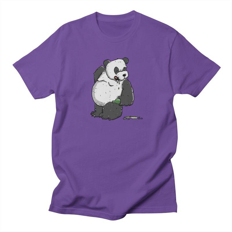 The Panda-Bear drinks Panda-Beer Women's Regular Unisex T-Shirt by Illustrated Madness