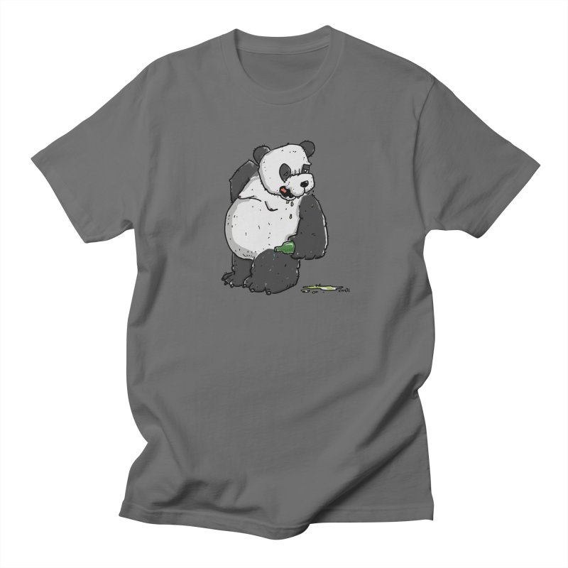 The Panda-Bear drinks Panda-Beer Men's T-Shirt by Illustrated Madness