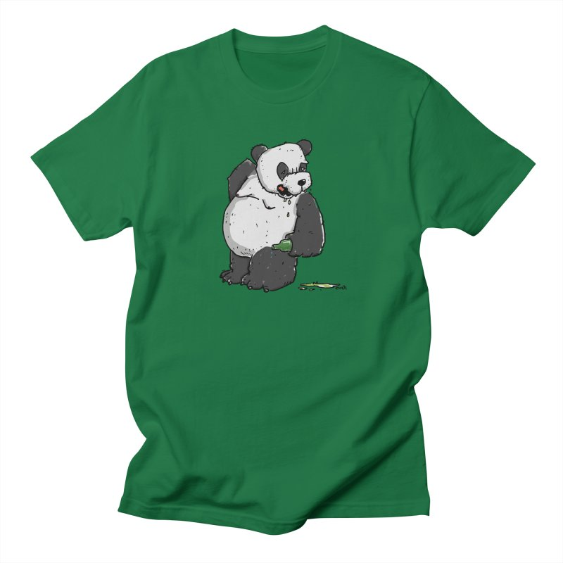 The Panda-Bear drinks Panda-Beer Men's Regular T-Shirt by Illustrated Madness