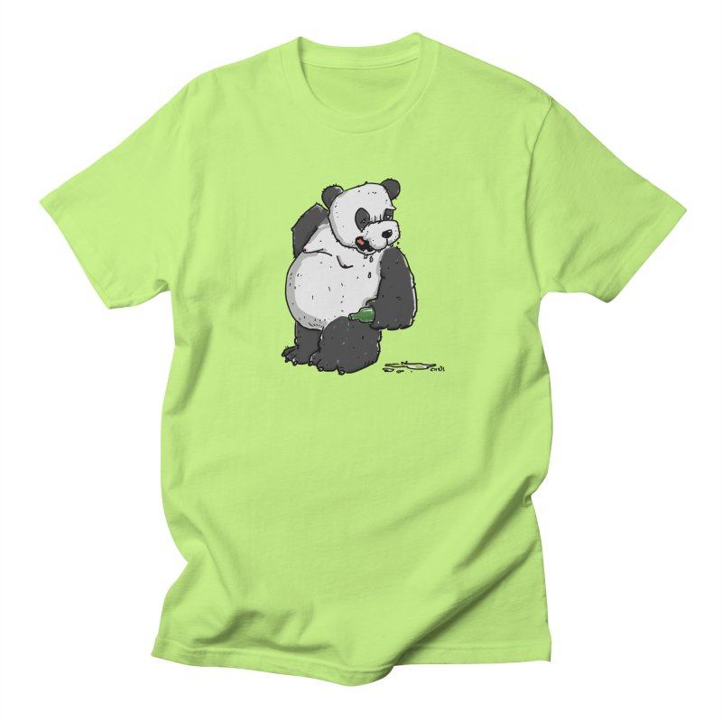 The Panda-Bear drinks Panda-Beer Women's Unisex T-Shirt by Illustrated Madness