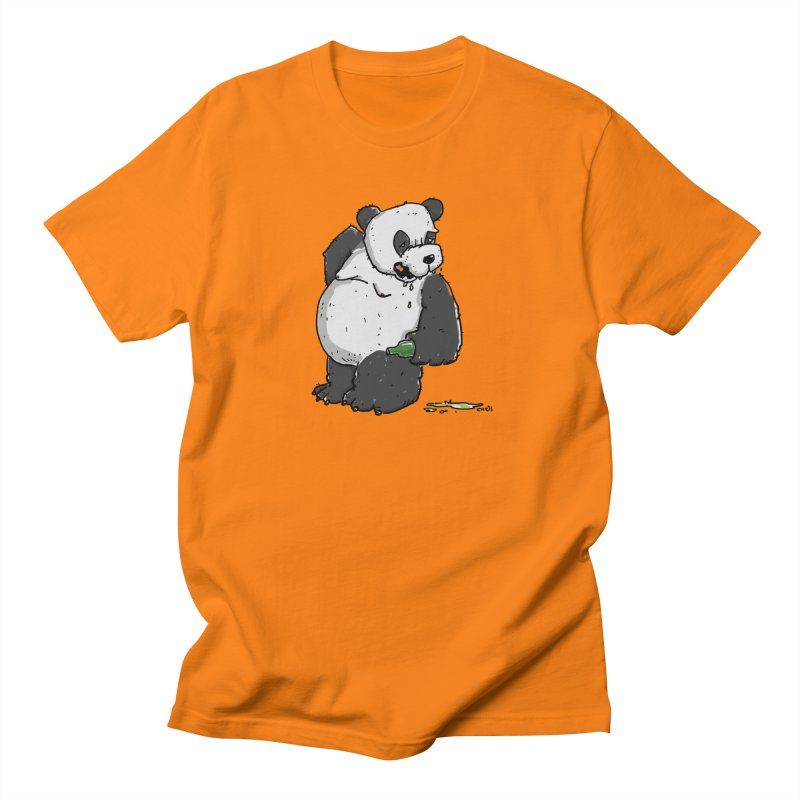 The Panda-Bear drinks Panda-Beer Women's Regular Unisex T-Shirt by Illustrated Madness
