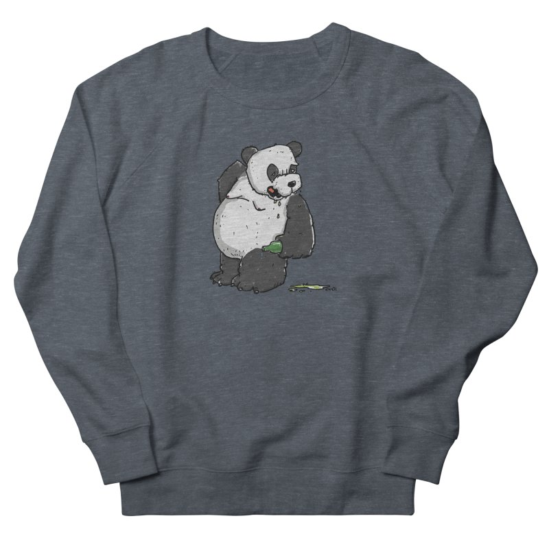The Panda-Bear drinks Panda-Beer Women's French Terry Sweatshirt by Illustrated Madness