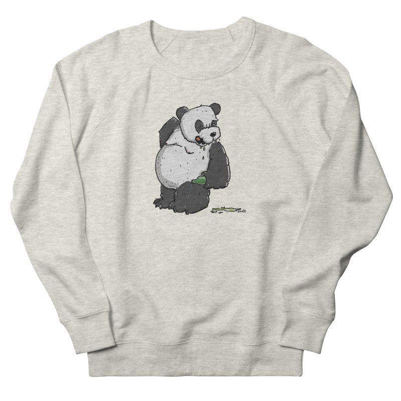 The Panda-Bear drinks Panda-Beer Women's Sweatshirt by Illustrated Madness