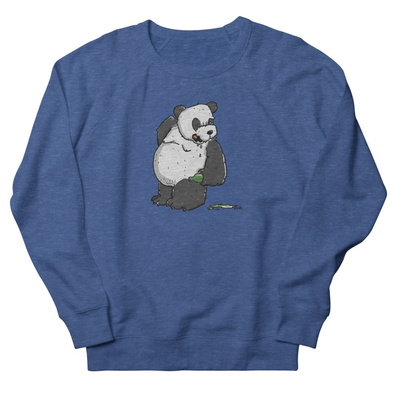 The Panda-Bear drinks Panda-Beer Men's French Terry Sweatshirt by Illustrated Madness