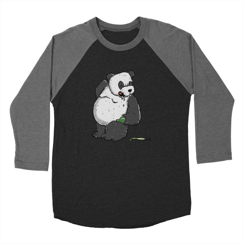 The Panda-Bear drinks Panda-Beer Women's Baseball Triblend Longsleeve T-Shirt by Illustrated Madness