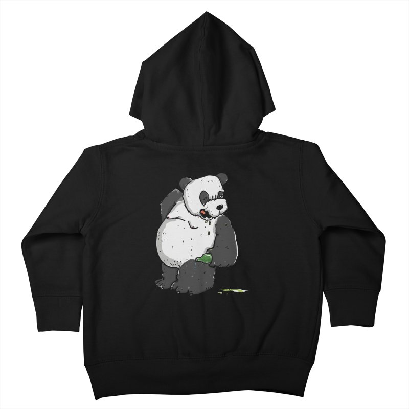 The Panda-Bear drinks Panda-Beer Kids Toddler Zip-Up Hoody by Illustrated Madness
