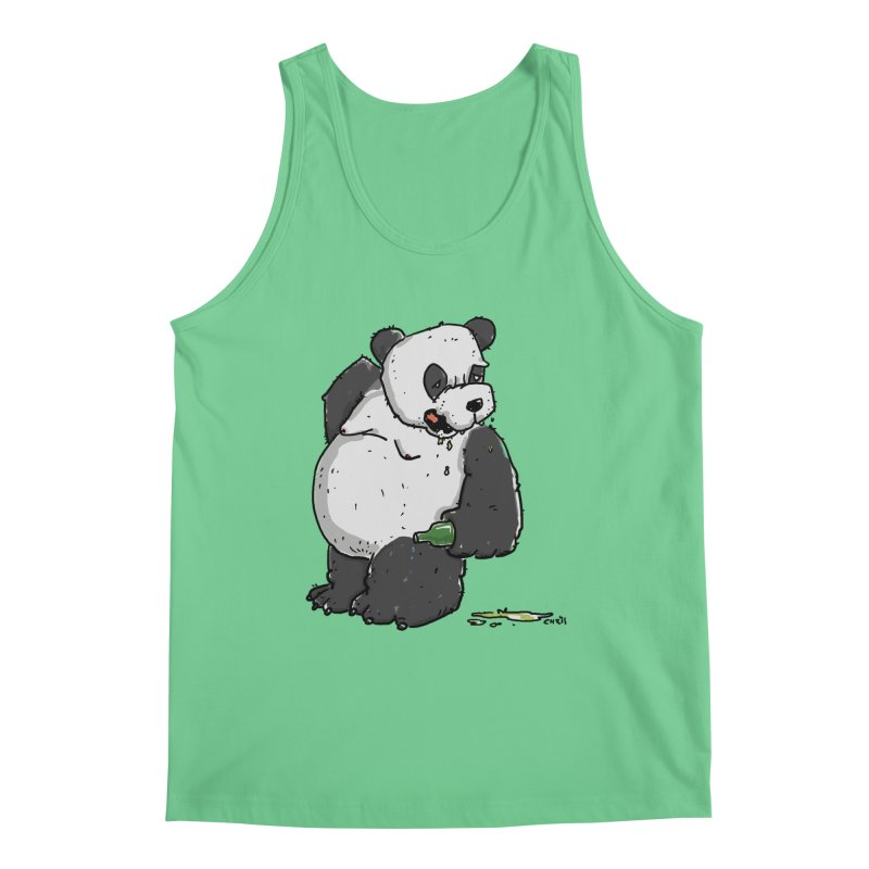 The Panda-Bear drinks Panda-Beer Men's Regular Tank by Illustrated Madness