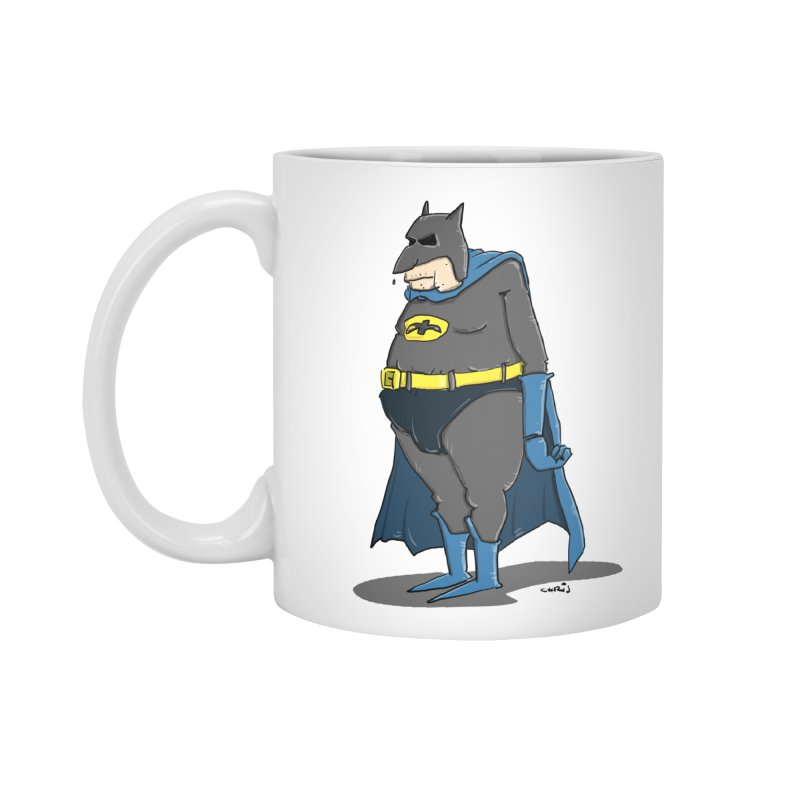 Not Bat but Fat. Fatman. Accessories Standard Mug by Illustrated Madness
