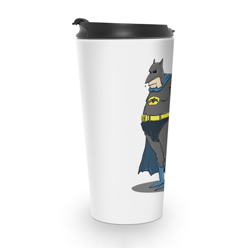 Not Bat but Fat. Fatman. Accessories Mug by Illustrated Madness