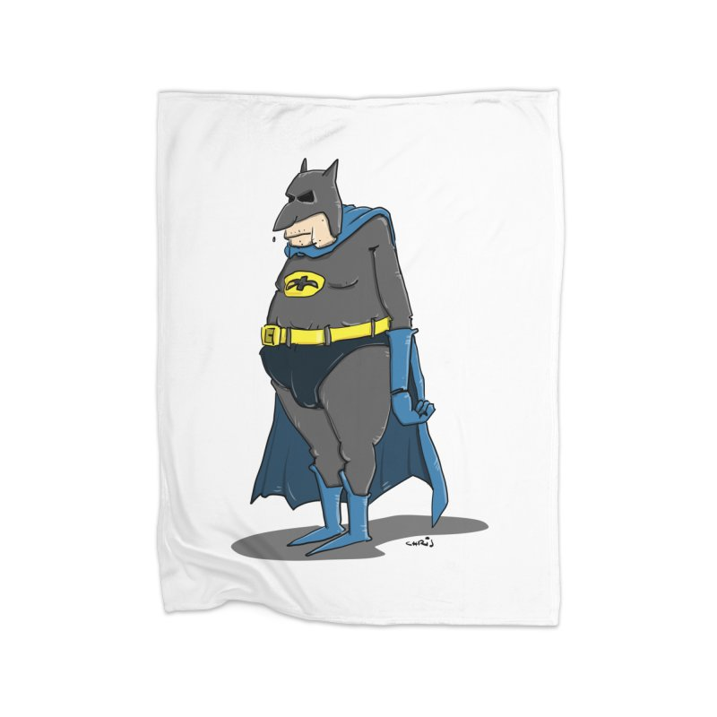 Not Bat but Fat. Fatman. Home Blanket by Illustrated Madness