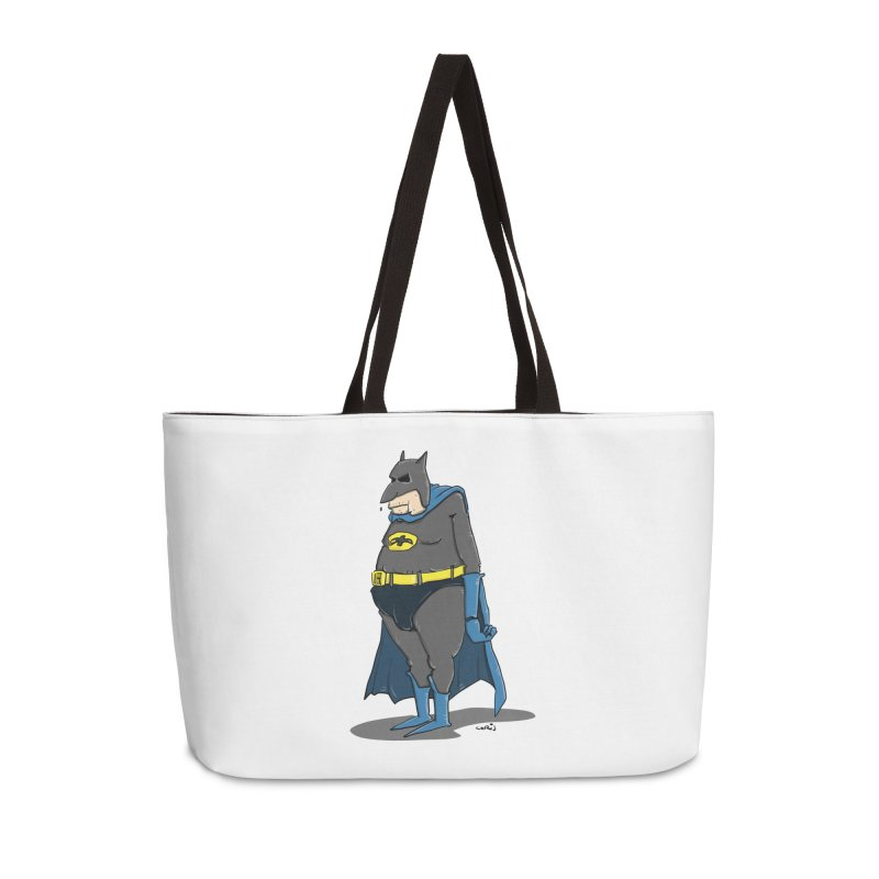 Not Bat but Fat. Fatman. Accessories Weekender Bag Bag by Illustrated Madness