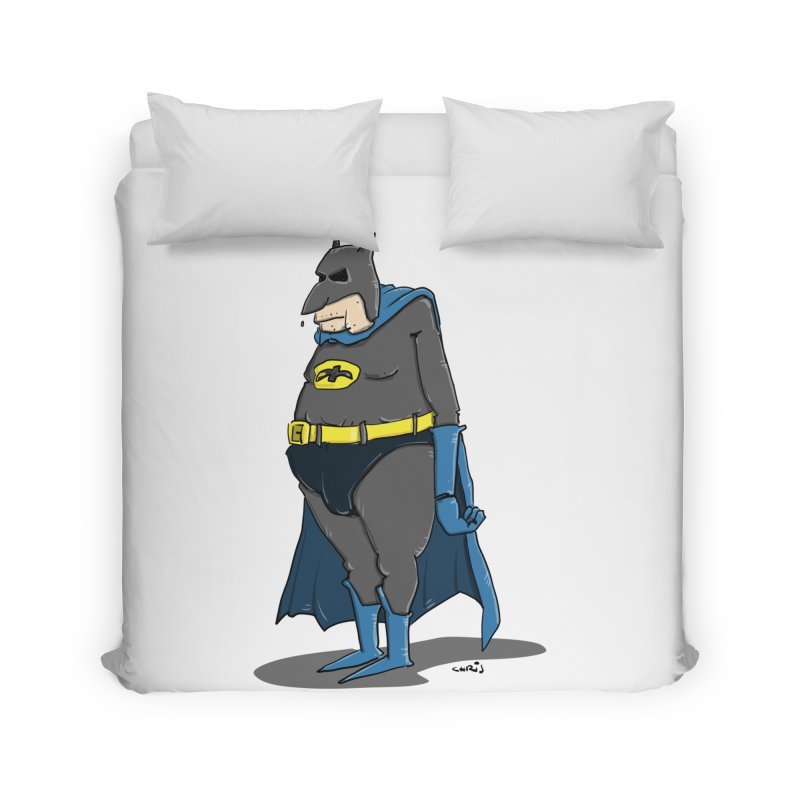 Not Bat but Fat. Fatman. Home Duvet by Illustrated Madness