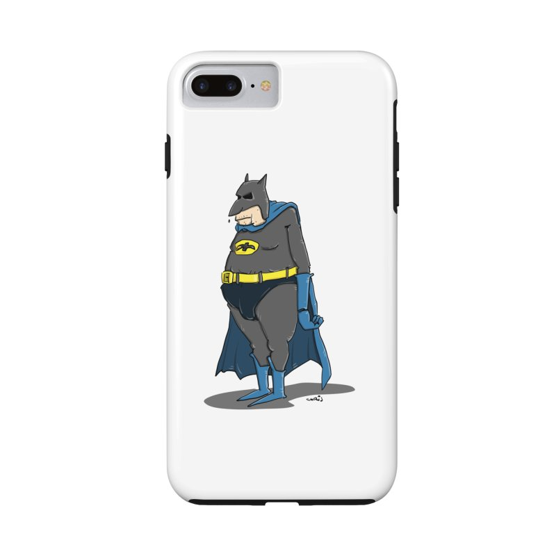 Not Bat but Fat. Fatman. Accessories Phone Case by Illustrated Madness