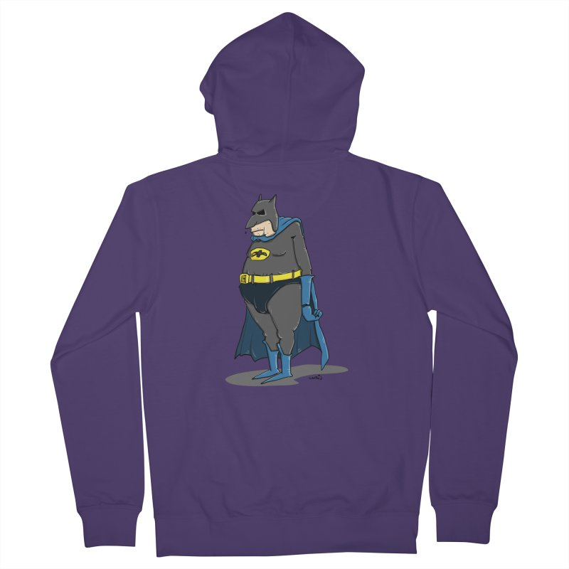 Not Bat but Fat. Fatman. Women's Zip-Up Hoody by Illustrated Madness