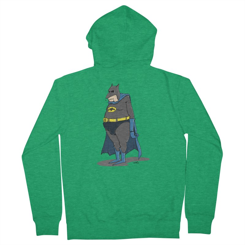 Not Bat but Fat. Fatman. Men's Zip-Up Hoody by Illustrated Madness