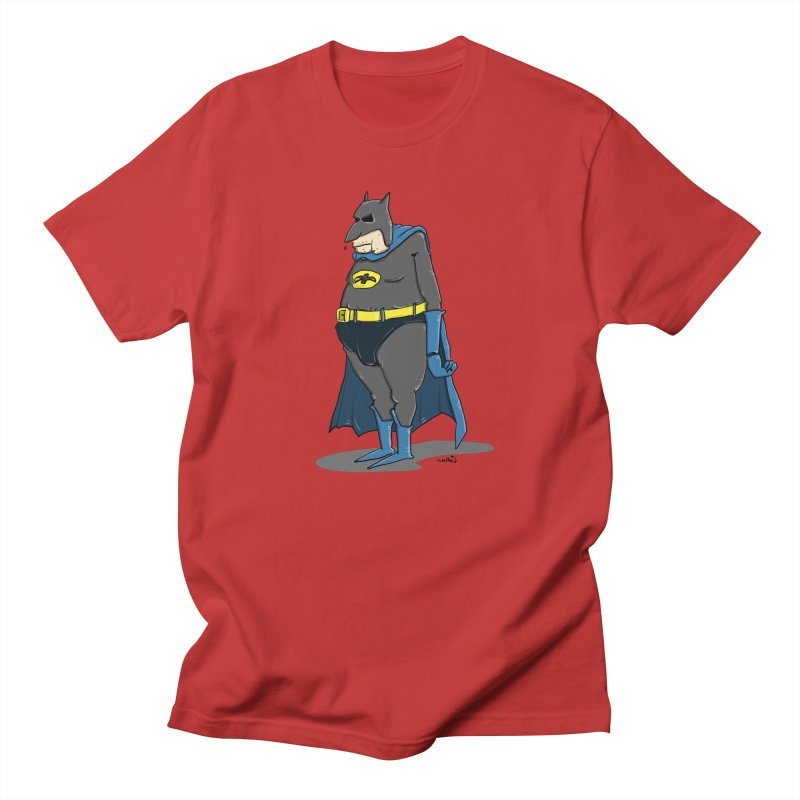 Not Bat but Fat. Fatman. Men's T-Shirt by Illustrated Madness
